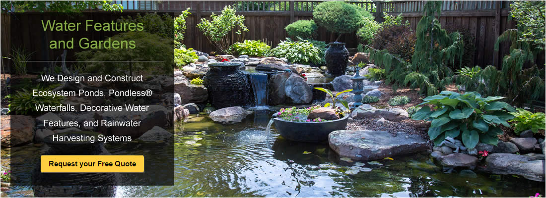 Water Features Waterfalls Ponds Rainwater Systems